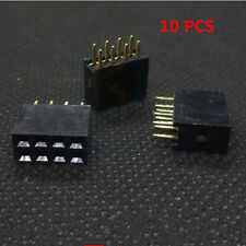 10Stk  2x4 8Pin Double Row Female Straight Header 2.54mm Pitch Socket Zubehör