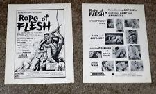 MUDHONEY aka ROPE OF FLESH orig 1965 movie pressbook RUSS MEYER/LORNA MAITLAND
