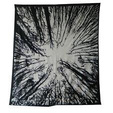 Colcha bosque blanco negro 230x210cm India algodón manta pared decoración