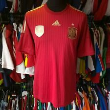 SPAIN 2013 HOME FOOTBALL SHIRT ADIDAS JERSEY SIZE ADULT L