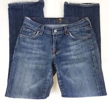 "7 For All Mankind Jeans Woman's Denim Blue Size 27 Waist 26"" Inseam 28"" Distress"