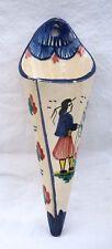 HB QUIMPER Wall Pocket Vase Petit Breton Hand Painted Faience