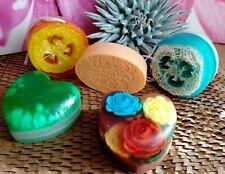 Valentines Women Men Gift Set of 5 Handmade Soaps, Love Hearth Soaps