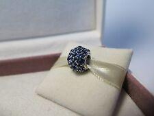 New w/Box & Tag Pandora Shimmering Droplets London Blue Pave CZ Charm #791755NLB