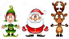 20 water slide nail  decals transfer Santa elf and deer trending Christmas