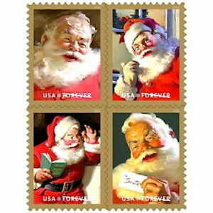 🎄2018 Sparkling Holidays(Coca-Cola Santa`s)USPS Forever 4~New Stamps Book of 20