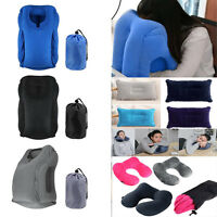 Inflatable Air Cushion Travel Pillow Airplane Nap Pillow Neck Chin Head Rest