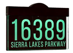 Auto On/Off LED Light Address Plaque Sign,House Numbers Sign, 12-16V AC Version