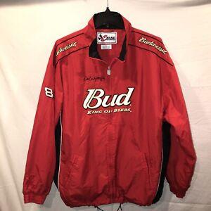 VTG Dale Earnhardt Jr Budweiser Chase Windbreaker Jacket 3XL Red NASCAR Racing