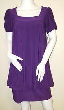 Jessica Howard Womens Size 4 Petite Purple Short Sleeve Top Dress NWT