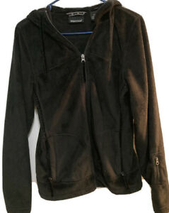 Marmot Size Medium S/P Women's Fleece Jacket Full Zip Hooded Black Casual
