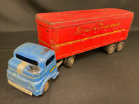 Structo Transport Semi Delivery Truck - pressed steel - 1950s