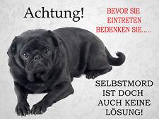 Mops -Aluschild-Warnschild-Neu-Funschild-Pug