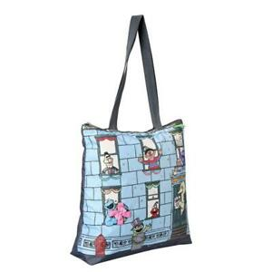 LeSportsac Sesame Collection Easy Magazine Tote Bag in Friends On The Block NWT