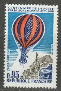 France 1971 MNH Mi 1736 Sc C44 Balloon post from besieged Paris **