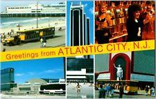 1970's era Atlantic City 5 Multi view Interior Exterior Nj Postcard Vintage Tram