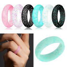 1PC Silicone Finger Ring Flexible Rubber Wedding Rings Bands For Women Full Size
