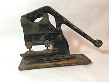 Antique Krahn Punch Early Paper Fastener Press National Advertising Corporation