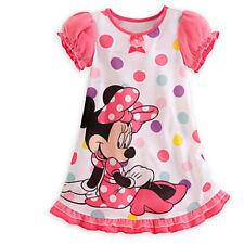 Girls Kids Nightie Nightdress Disney Character Pyjamas Sleepwear Dress 2-13Years