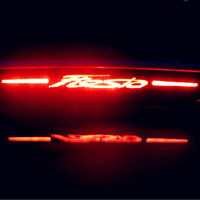 For Ford Fiesta 3D Carbon Fibre Rear Brake Light Stickers Decal Vinyl Cover