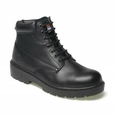 DICKIES ANTRIM LEATHER SAFETY WORK BOOT STEEL TOE CAP BLACK SIZE 10 FA23333