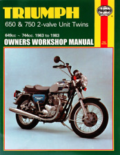 Triumph 650 & 750 Thunderbird Trophy Tiger Bonneville Haynes Workshop Manual