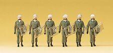 Preiser 10392 h0 figuras bgs uso traje & casco de protección