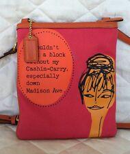 AUTHENTIC COACH Crossbody Pink Orange SWING PACK W/KISS LOCK CHANGE PURSE #42605