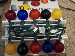 Merry Brite Set of 10 Multi-color Christmas Globe Ice Lights Tested Unused C-9