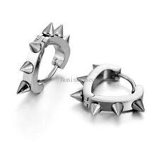 Hollow Heart Shape Fashion Unisex Punk Style Stainless Steel Ear Stud Earrings