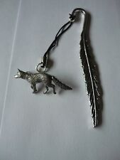 Fox codeppa23 Made From Fine English Pewter On A FEATHER Bookmark
