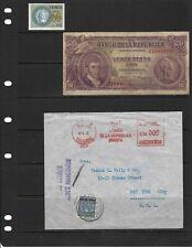 BANCO DE LA REPUBLICA'' COVER> BOGOTA to  U.S.1932.  $20 pesos 1953 USED-  Stamp