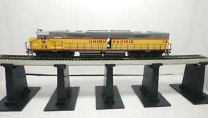 Athearn HO Train Custom Dual LED UP DD40 Dual Motor Powered Diesel Locomotive