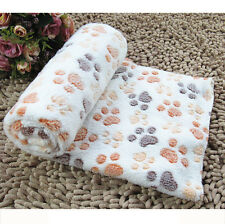 New Warm Pet Mat Small Large Paw Print Cat Dog Puppy Fleece Soft Blanket BG/S UA