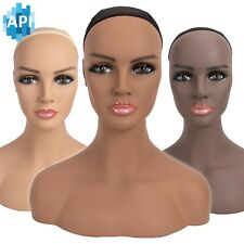 "16.5"" Realistic Mannequin Wig Head Manikin shoulder Bust Stand Display Hair CM-S"