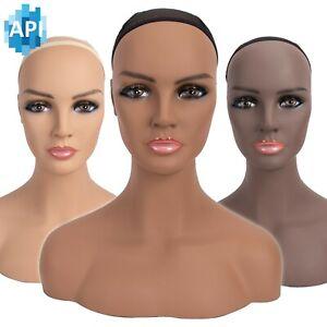 "16.5"" Realistic Mannequin Wig Head Manikin shoulder Bust Stand Display Hair CM-S"