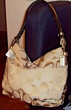 Coach 24CM Signature Duffle Shoulder/Crossbody Strap F15067 LT Khaki Gold $328