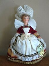 Vtg MARIE pont aven le minor FRENCH celluloid DOLL FRANCE queen royal costume
