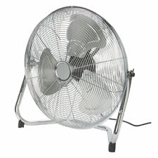 """18"""" Floor Fan High Velocity Chrome Free Standing Gym 3 Speed Industrial CHEAPEST"""
