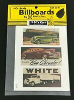 Blair Line 2411 HO Scale Billboard Signs 1930's Cars Set of 6 NEW SEALED NOS