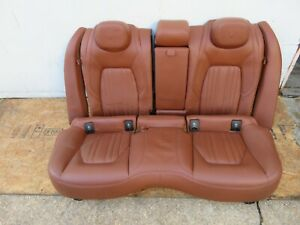 2014-2017 MASERATI GHIBLI SQ4 REAR BACK SECOND ROW 2ND COMPLETE SEAT LEATHER OEM