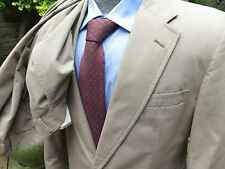 vtg. Haspel Lord and Taylors Dark Olive-Taupe Washable Cotton Suit, 41R, 34x29.5