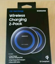 Samsung 2 Pack Blue Wireless Fast Charging Pads Qi Compliant