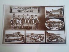 Vintage Real Photo Postcard MORECAMBE MULTI-VEW     §A224