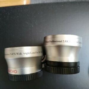 40.5mm Thread Size professional 2.0X telephoto and 0.45X wide angle lenses