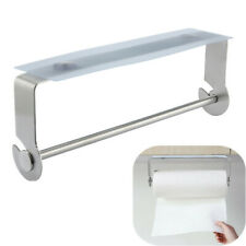 Hideaway Adhesive Paper Towel Holder Under Cabinet For Kitchen Bathroom New Usa