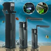 220V-240V Aquarium Fish Tank 3 in 1 Water Pump Aquatic Internal Filter