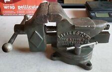 Antique Vtg Littlestown 400 Bench Vise 4 14 Jaws Swivel Base Anvil Usa