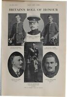 1915 WW1 PRINT ROLL OF HONOUR WORSLEY HARTNOLL CHADS ALLGOOD HAMILTON WHITAKER