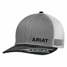 Ariat Mens B-Fit Offset Embroidered Logo Mesh Back Snapback Cap Hat